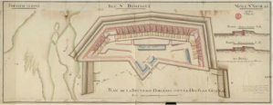Plan of Fort George Le Batterie d'Orléans, later Fort George