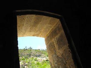 Fine stonework of entry