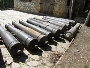 Cannons removed from fort.