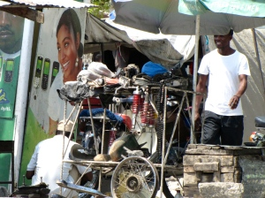 Parts vendor at roadside
