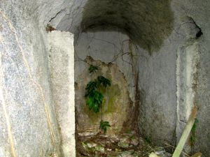 Cold room beside cistern
