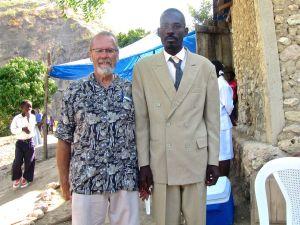 With Pastor Job.